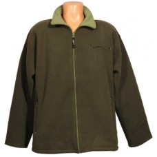 Mikina fleece, olive / lime-green