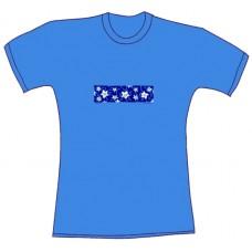 Tričko, světle modrá, s potiskem jasmínu