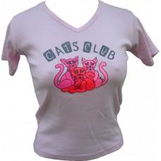 """Tričko, světle růžové s potiskem """"cat´s club"""""""