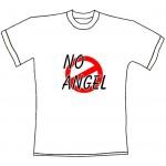"""Tričko, bílé s potiskem """"no angel"""""""