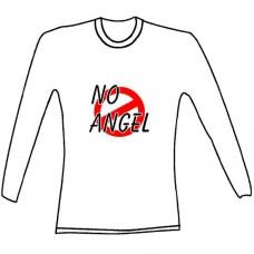 """Tričko, bílé, dlouhý rukáv, s potiskem """"no angel"""""""
