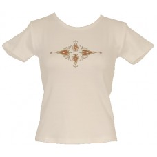 Tričko, bílé s potiskem ornamentu