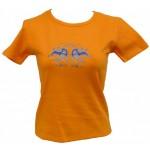 Tričko, oranžové s potiskem maska