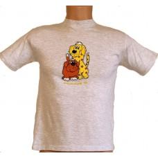 Tričko, šedý melír, Bernský salašnický pes