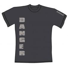 """Tričko, tmavě šedé s potiskem """"danger"""""""