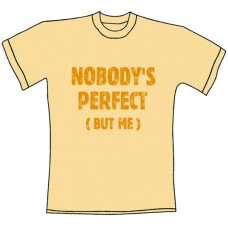 """Tričko, béžové s potiskem """"nobody´s perfect (but me)"""""""
